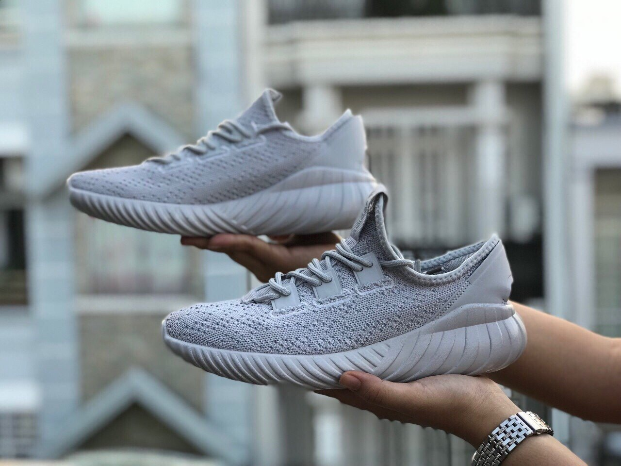 Giày Tubular Doom sock grey