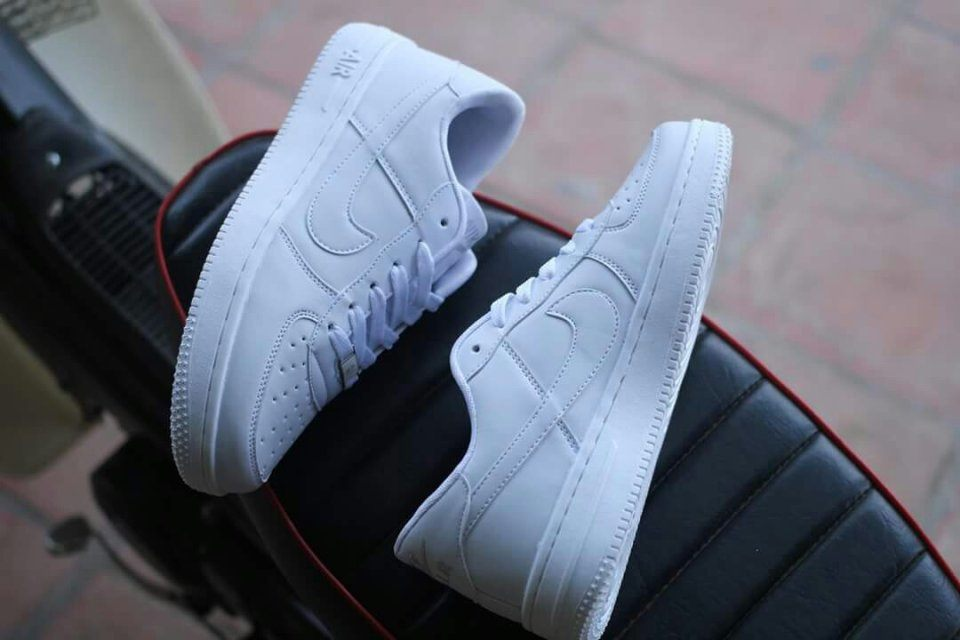 giày nike air force full white