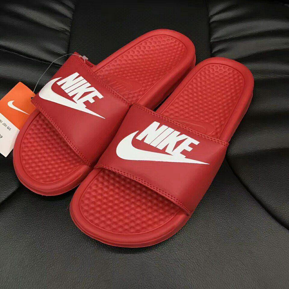 Dép Nike Benassi đỏ full