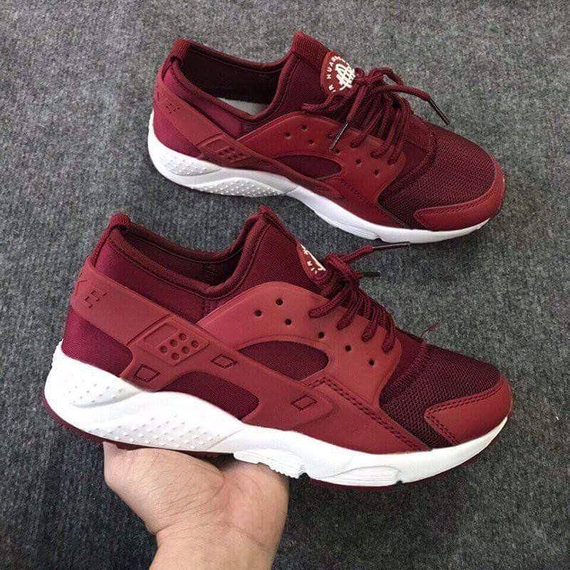 Giày Nike huarache đỏ đô