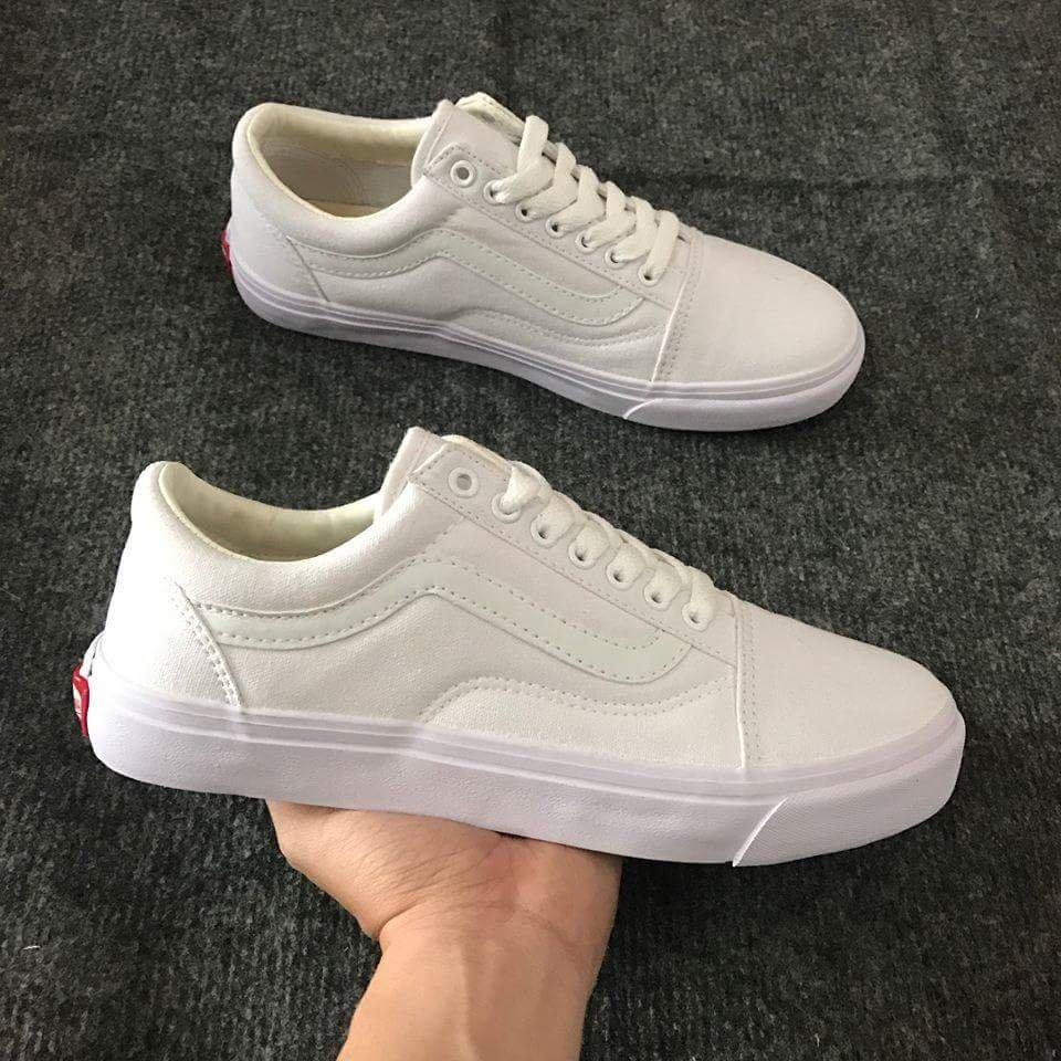giày vans old skool trắng full