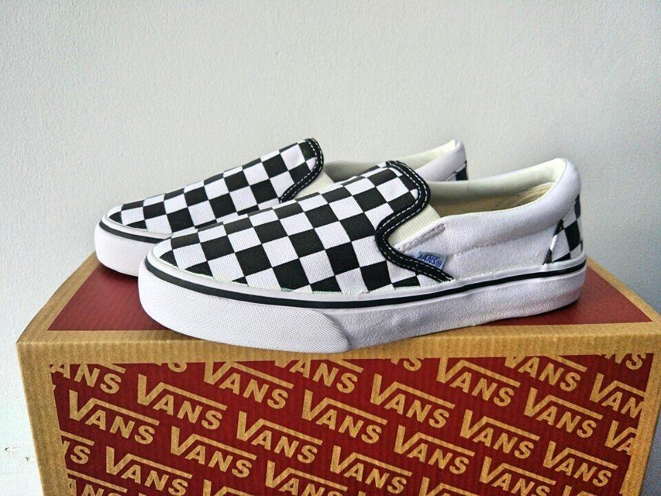 giày vans slip on caro trắng
