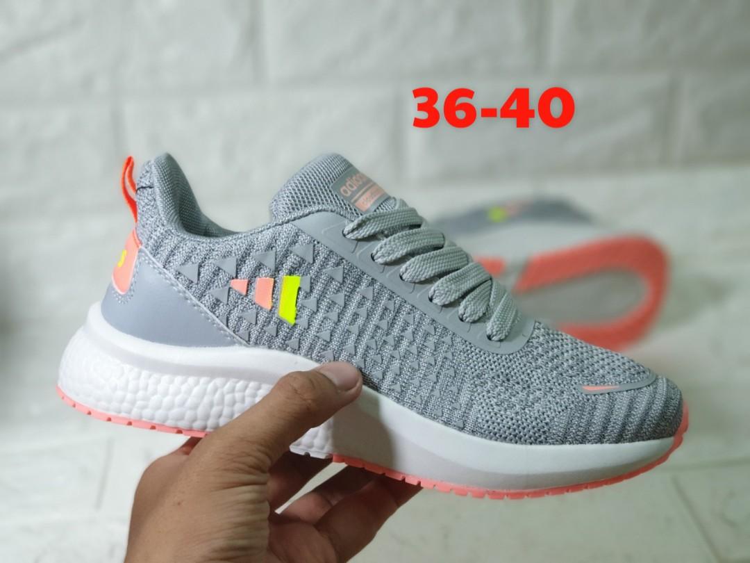 giày adidas neo xám hồng v29