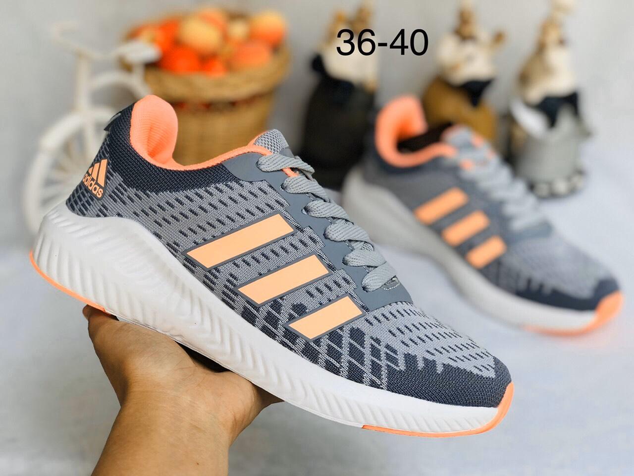 Giày Adidas Neo Nữ V30 xám cam